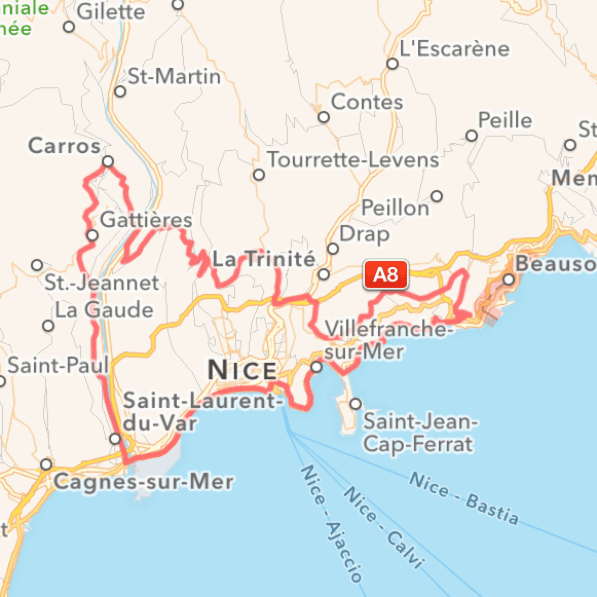 Cykelroute in South France, Villa Romarine by KKP Provence, Nice og Col d´Eze