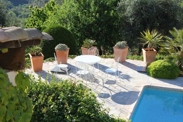 Beskrivelse af huset, udsigt fra Villa Romarine, Provence Sydfrankrig