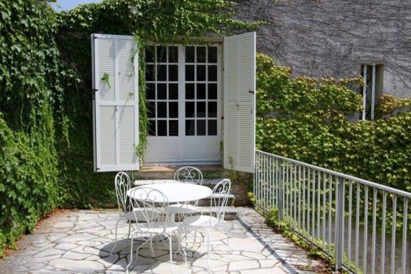 beskrivelse af huset, feriehus ved Nice, Villa Romarine, top terasse ved siden af stue