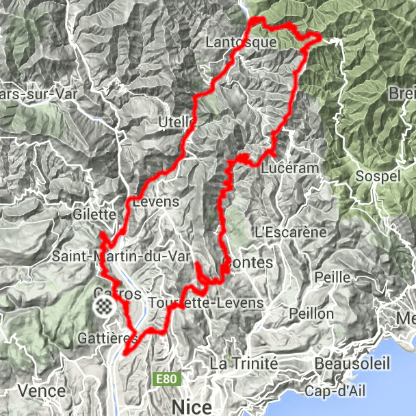 Cykelruter i Provence Sydfrankrig, Villa Romarine via KKP Provence, Col de Turini
