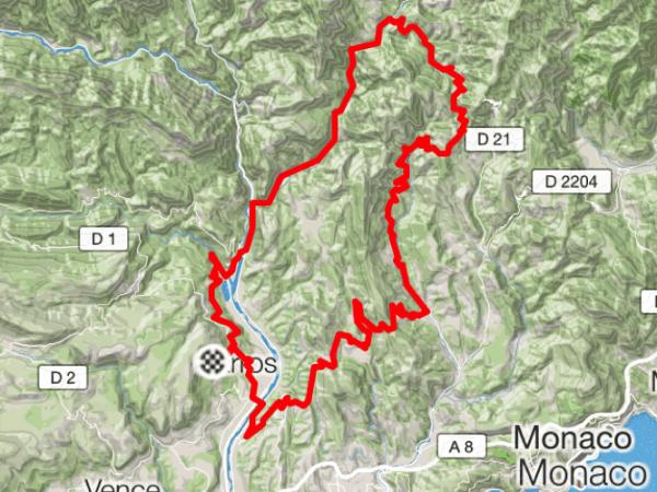 ruter ved Nice - lav din egen cykelrejse