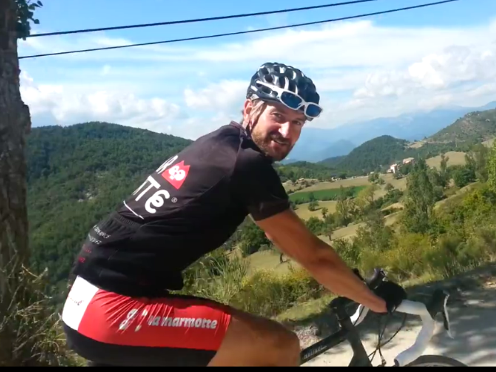 Thomas Schelde Pedersen på cykelrejse ved Nice, Villa Romarine.