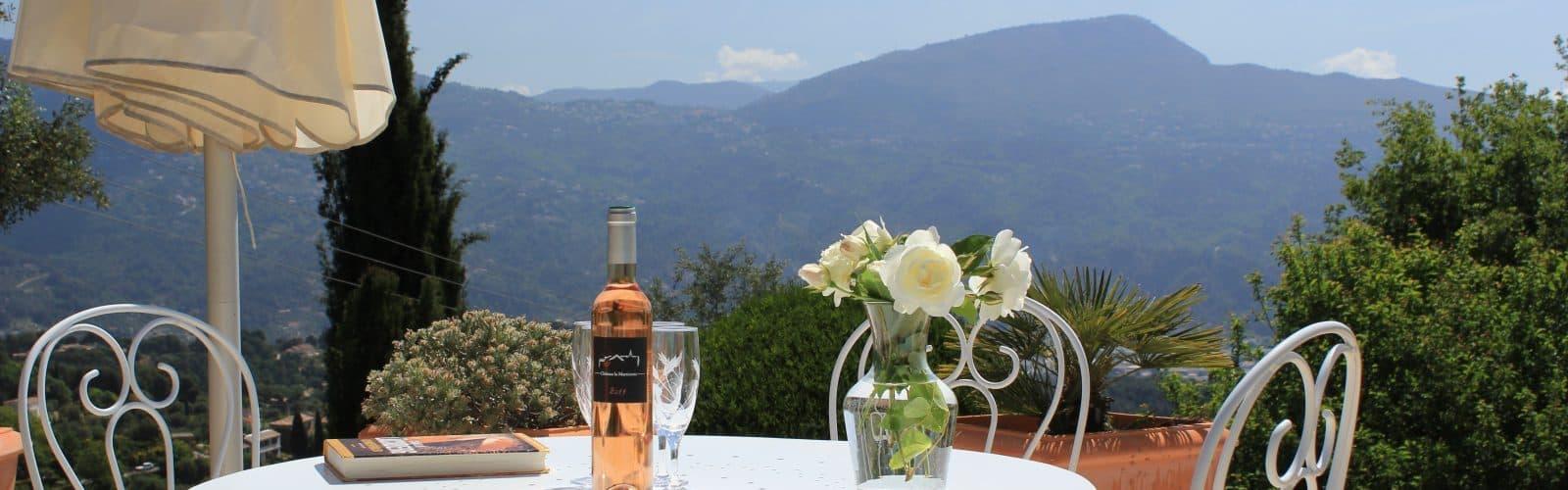 Nord for Nice, Villa Romarine med udsigt ud over Provence Syditalien